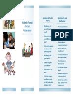 parent teacher conference flyer