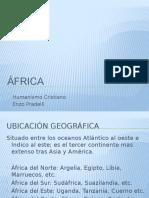 CULTURA RELIGIOSA AFRICA. HUMANISMO CRISTIANO