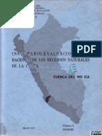 Inventario y evaluación de los recursos hidricos del la cuenca del río Ica - Parte 1
