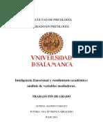 TESIS - Inteligencia Emocional y Rendimiento Académico Análisis de Variables Mediadoras