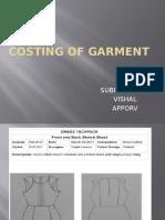 Costing of Garment