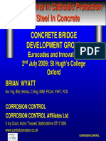 Developments in Cathodic Protection of steel in concrete