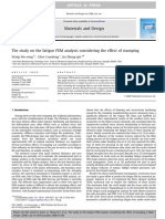 The Study on the Fatigue FEM Analysis Considering the Effect of Stamping