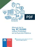 Manual de la Ley N° 20.880 sobre Probidad en la Función Pública