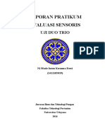 Laporan Evaluasi Sensoris III