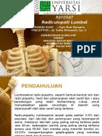 radiculopaty lumbal