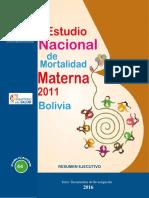 Estudio Nacional de Mortalidad Materna Resumen Ejecutivo