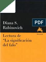 313307353 Lectura de La Significacio n Del Falo Diana S Rabinovich