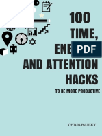 100 Time Energy & Attention Hacks