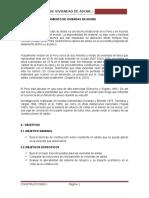 Informe de Reforzamiento de Viviendas de Adobe