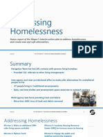 Homelessness Update for City Council