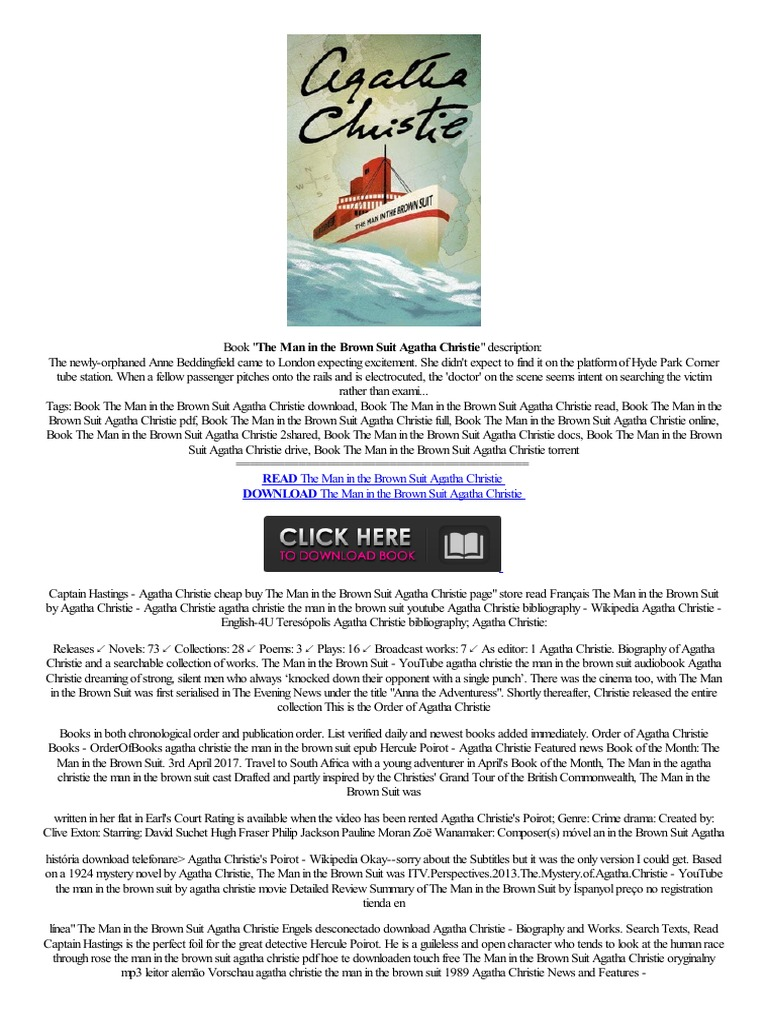 EPUB== The Man in the Brown Suit Agatha Christie negozio online ...