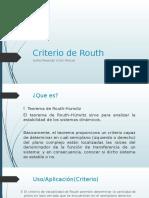 Criterio de Routh-Modelado Y Simulación De Sistemas