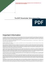 The BHP Shareholder Value Unlock Plan