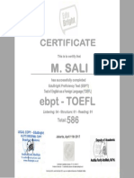 Laporan TOEFL m. Sali Bw