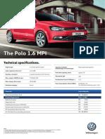 Volkswagen Polo 1 6 Leaflet Em