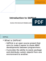 1 - Part 1 - Introduction to SAPlink