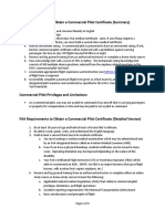 FAA Requirements to Obtain a Commercial Pilot Certificate