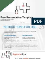 Template Stethoscope Symbol Medical Google Slides Presentation