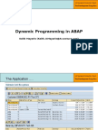 1 - Part 3 - Dynamic Programming in ABAP