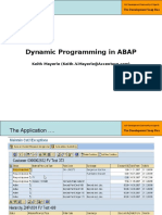 1 - Part 3 - Dynamic Programming in ABAP