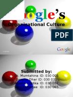 google Corporate culture