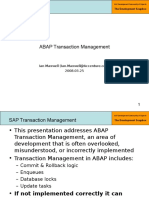 4 - Part 1 - ABAP Transaction Management