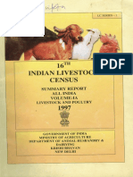 16th Indian Livestock Census All India Summary Report