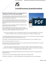 coals death would not kill economy australia institute