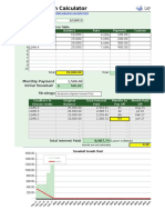 Debt Reduction Calculator - Template