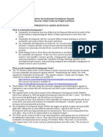 FAQs Sustainable Development Summit Final