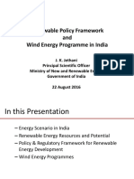 Presentation on RE Policy and Wind Energy