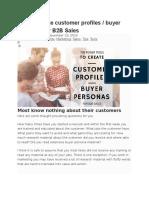 How to Create Customer Profiles