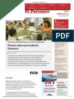 Pautas Sobre Precedente Huatuco