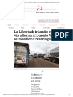 La Libertad Tránsito en Vía Alterna Al Puente Virú Se Mantiene Restringido