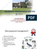 Equipment Maintenance and Use