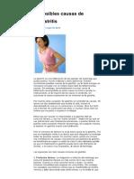 Gastritis Posibles Causas