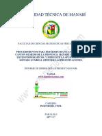 Informe (Procedimiento Para Determinar Una Cuenca Mediante ArcGIS, Obtener Los Datos Fisiográficos, y Mediante La Aplicación Del Método Gumbell Obtener Las Precipitaciones Máximas)