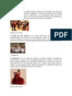 Baile de salón, BALILE DE CINTA, BAILE GRIEGO, DANZA MEXINCA.docx