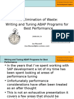 7 - Part 1 - Writing and Tuning ABAP Programs for Best Performance