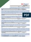 IEA Report 13th April