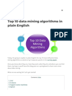 Top 10 Data Mining Algorithms