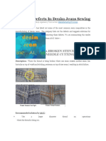 Common Defects in Denim Jeans Sewing