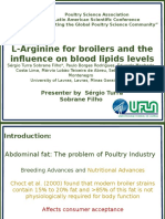 LArginine for Broilers and the Influence on Blood Lipids Levels