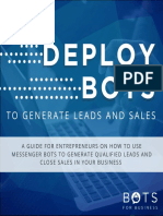 Deploy Bots to Generate Leads and Sales