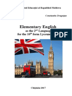 Elementary English as the 2nd Lang. Form X