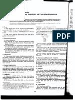 D0994-94 Spec for Preformed Expansion Joint Fillers