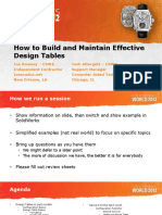 How to Build and Maintain Effective Design Tables