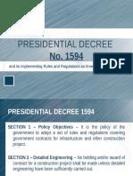 Presidential Decree 1594