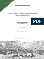 Indicadores Ambientales de Espacio Publico en Bogota